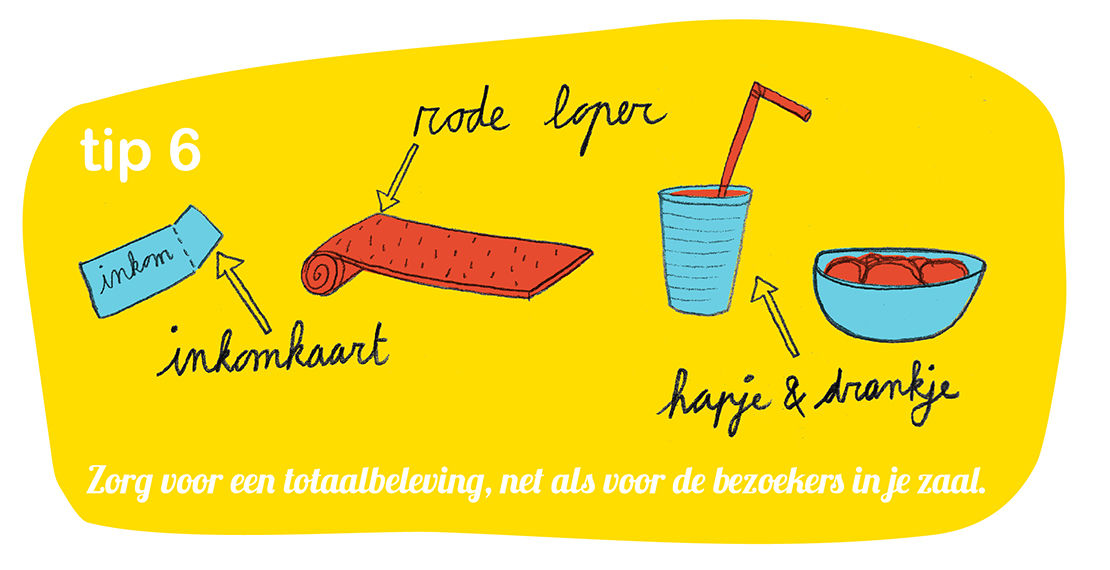 Redlobster illustratie drukwerk Cultuurconnect livestreaming
